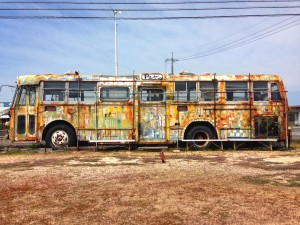 Abandoned party bus