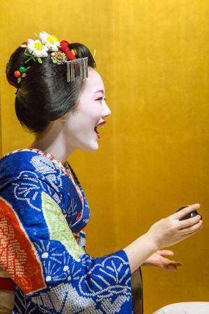 Maiko laughing